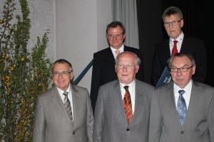 Die Preisträger mit Herrn Bürgermeister Thoma (hinten von links: Herr Thoma, Herr Deininger; vorne von links: Herr Gold, Herr Heiland, Herr Machauer)