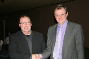 Markus Bleyer mit Herrn Bürgermeister Thoma